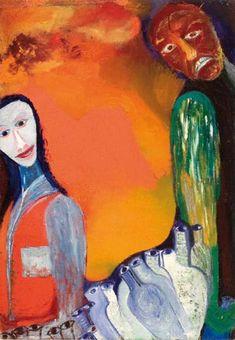 El borracho © Fundación Violeta Parra Chile, Painting, Graphic Artwork, The Louvre, Music Production, Wire Sculptures, Cultural Center, Paintings, Art