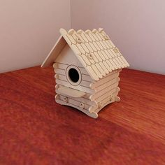 Great wooden birdhouse pattern. Vector plans for CNC router and laser cutting. Template cutting files. Plywood 3mm/4mm/5mm/6mm. Instant download