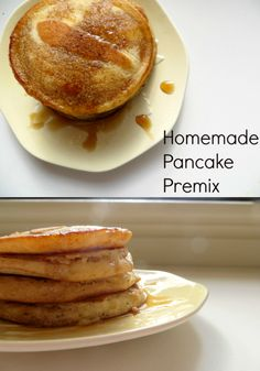 Homemade Pancake Premix- I tried this today, delicious- plus I now have extra dry mix for the next 3 batches. So easy!
