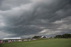 PGA of America photographer Montana Pritchard snapped this shot of the ominous clouds that rolled in late Saturday afternoon -- and then, we hope, he headed for shelter.