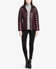 Calvin Klein Packable Down Puffer Coat, Created for Macy's - Tan/Beige XXL