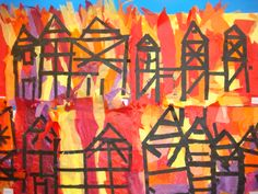 Great Fire of London primary school artwork School Displays, Classroom Displays, The Fire Of London, Firework Safety, Primary History, The Great Fire, London History, Fire Art, London Art