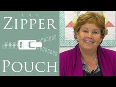 The Zipper Pouch: An Easy Quilting Project Tutorial by Jenny Doan of Missouri Star Quilt Co - YouTube