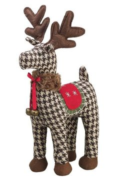 ALLSTATE Houndstooth Check Reindeer Decoration available at #Nordstrom