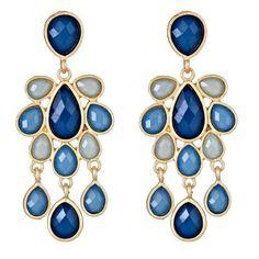 #Sapphire #Chandelier #Earrings