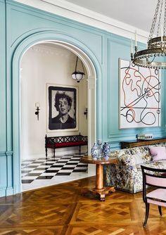 Interior Design Minimalist, Home Interior Design, Interior Architecture, Interior Decorating, Colorful Interior Design, Decorating Kitchen, Interior Door, Hallway Decorating, Decorating Tips