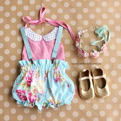 Baby Fashion by Robintail - www.robintail.com.au #baby #fashion #vintage #floral #style #bloomers #collartop
