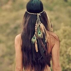 Cute boho hair for music festivals. Coachella and Bonnaroo love!