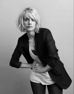 Haircut - more of my too-chicken wistfulness - Actress Melanie laurent shot by David vasiljevic