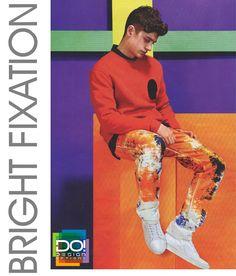 relatório #DesignOptions tendência de cor na #WeConnectFashion, SS17 dos homens, Fixação brilhante placa de humor