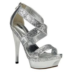 Brandi Silver Prom Shoes - Pink By Paradox