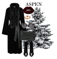 """Aspen baby"" by pernillamaneschiold on Polyvore featuring Yves Saint Laurent, Elizabeth and James, Chanel, Christian Dior, Lime Crime and Cartier"