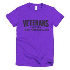Veterans's Serve First Women's Short Sleeve