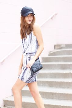 A fun tie dye dress + athleisure accessories on www.withacitydream.com