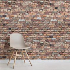 Create an exposed brick feature wall with our Mixed Brick Wallpaper Mural. this mural would work wonders in any space. Brick Wallpaper Bedroom, Brick Effect Wallpaper, White Brick Wallpaper, Wallpaper Murals, Wallpaper Designs, Rustic Wallpaper, Painted Brick Walls, White Brick Walls, Red Walls