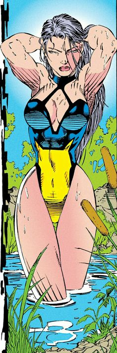Psylocke in X-Men by Jim Lee Marvel Comic Character, Comic Book Characters, Marvel Characters, Comic Books Art, Comic Art, Character Art, Arte Dc Comics, Bd Comics, Comics Girls