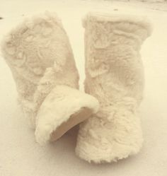 Faux Fur Baby Bootie NonSlip Infant Newborn by ToastyToesies, $25.00