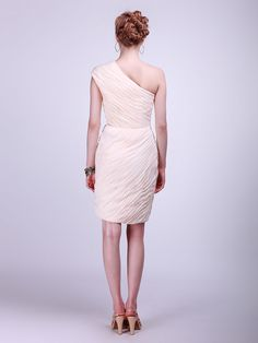 1e80efc9f6ed All Over Pleated Chiffon Bridesmaid Dress