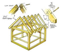 timber frame outdoor building