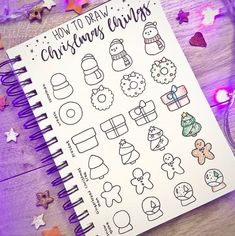 Working on bullet journal doodles can help you relieve stress, relax and improve productivity levels. Have fun adding these cute doodles to your bullet journal notebook! Bullet Journal Inspo, December Bullet Journal, Bullet Journal 2020, Bullet Journal Notebook, Bullet Journal Spread, Bullet Journal Layout, Bullet Journal Ideas Pages, Bullet Journal How To Start A Simple, Bullet Journal Christmas