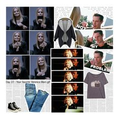 """30 Days of Veronica Mars: Day 22 - Your favorite Veronica Mars gif"" by lexie-ann ❤ liked on Polyvore featuring Hudson Jeans, Pusheen and Converse"