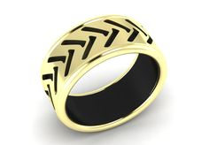 14k ULTRA MODERN Two-Tone Gold Luxurious and Gorgeous Wedding