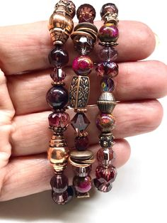 Jewel Tone Colors, Jewel Tones, Copper Accents, Champagne Color, Pure Copper, Garnet Gemstone, Bead Caps, Ruby Red, Acrylics
