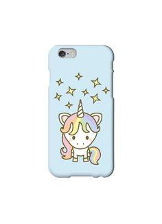 Cute Unicorn Kawaii iPhone 6 /5/5s/5c/4/4s Samsung Galaxy case Blue Starry - Japanese, Cartoon, Happy, Glitter, Rainbow