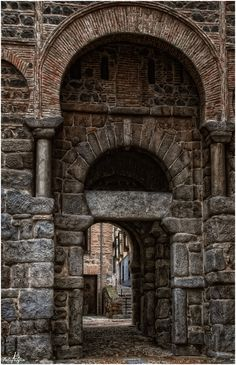 Toledo XI, Spain (Series) by Manuel Lancha, via Isabella Of Castile, Madrid, Toledo Spain, One Day Trip, Abandoned Castles, Spain And Portugal, Spain Travel, Amazing Architecture, Islamic Architecture