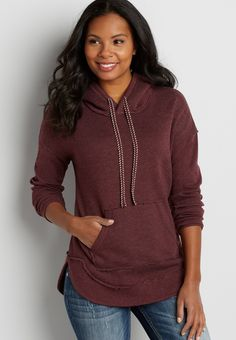 On my wish list #wishpinwinsweepstakes #discovermaurices dolman pullover sweatshirt with faux sherpa lined hood
