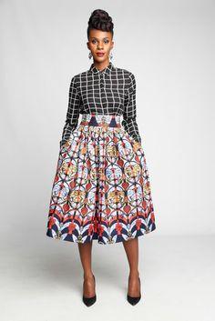 Akiva Safia Skirt ~African fashion, Ankara, kitenge, African women dresses, African prints, African men's fashion, Nigerian style, Ghanaian fashion ~DKK