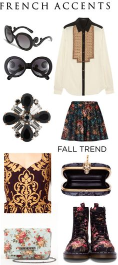 Baroque, fall trends, style, fashion, dress, floral