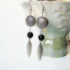 FREE SHIPPING Long earrings / Beaded earrings / by MonistoJewelry