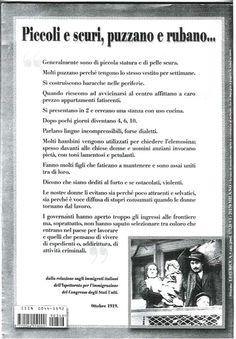 Ottobre 1919 - Relazione sugli immigrati italiani dell'ispettorato per l'immigrazione del Congresso degli Stati Uniti. Ricordatelo sempre, tutte le volte che andate a votare. Sempre!