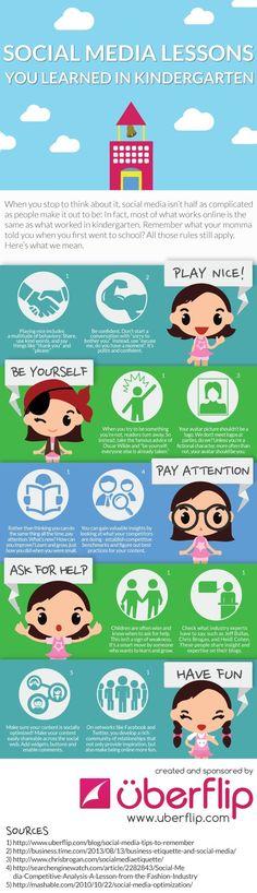 Diese Social-Media-Regeln lernt man schon im Kindergarten, oder? #Infografik #Pinterest