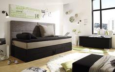 Kids Line Boxspringbett mit Bettkasten Jugendbett 90x200 cm Bett Kinderbett Schw | eBay