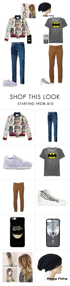 """""""lazy day at the amusement park with bae"""" by bishpleaseimaprincess on Polyvore featuring Gucci, McQ by Alexander McQueen, New Balance, Hybrid, Urban Pipeline and Marcelo Burlon"""
