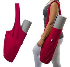 Yoga Mat Bag by Yogiii  The YogiiiTote  Yoga Mat Tote Sling Carrier w Large Side Pocket  Zipper Pocket  Fits All Size Mats * Find out more about the great product at the image link.
