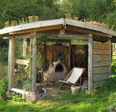outdoor earth oven gazebo
