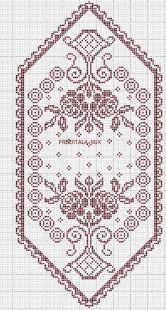 Annie's Crochet, Crochet Bikini Pattern, Fillet Crochet, Crochet Doily Patterns, Crochet Home, Crochet Doilies, Crochet Stitches, Cross Stitch Borders, Cross Stitch Flowers