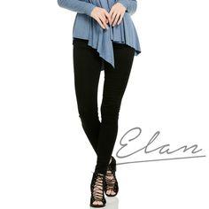 Elan Black Jeggings super comfy! Available at www.OneHipMom.com