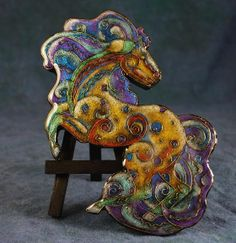 Student faux cloisonne (Steph Michaud) on Polymer Clay Tutorials blog