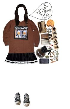 """so when the smoke clears here i am"" by harlequin-girls ❤ liked on Polyvore featuring Converse, Rosenthal, Rock 'N Rose, Miss Bibi, women's clothing, women, female, woman, misses and juniors"