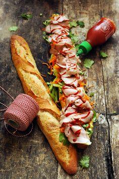 Dorian cuisine.com Mais pourquoi est-ce que je vous raconte ça... : Le bánh mì, peut-être mon sandwich préféré ! 2e étape et le casse-croûte fut !