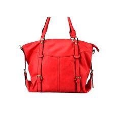 Skøn rød taske i kunstlæder fra Paris - kan høbes her hos Zachos.dk