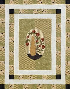 Create a bunny appliqué wall hanging that you can display year-round with muted greens, tans, and browns.