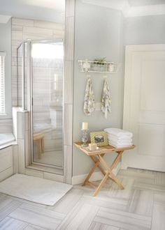 love the tile in shower and on floor