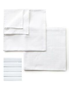 5 Pack White Muslin Squares | M&S £10