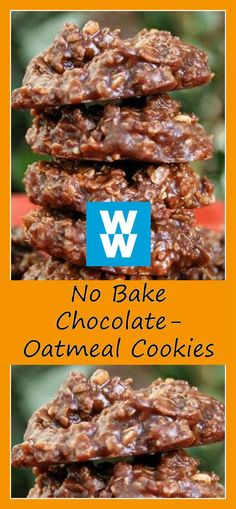 No Bake Chocolate-Oatmeal Cookies | weight watchers recipes