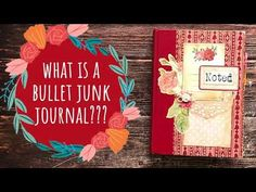 What is a Bullet Junk Journal/How to Alter Old Books Into a Bullet Journal - YouTube Handmade Journals, Handmade Books, Junk Journal, Bullet Journal, Junk Art, Old Books, Vintage Ephemera, Altered Books, Alters